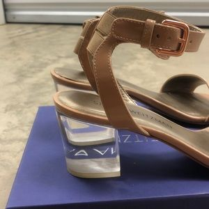 Stuart Weitzman Shoes - Stuart Weitzman Nude Acrylic Heels